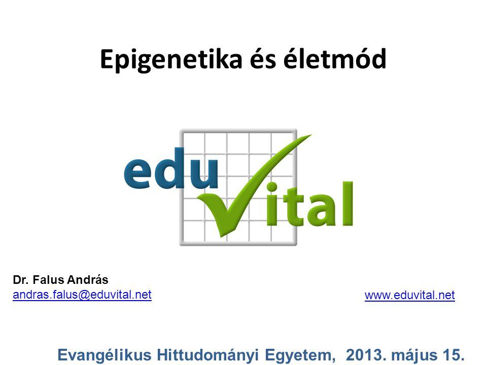 Epigenetika és életmód Evangélikus Hittudományi Egyetem, 2013. május 15. Dr. Falus András andras.falus@eduvital.net www.eduvital.net
