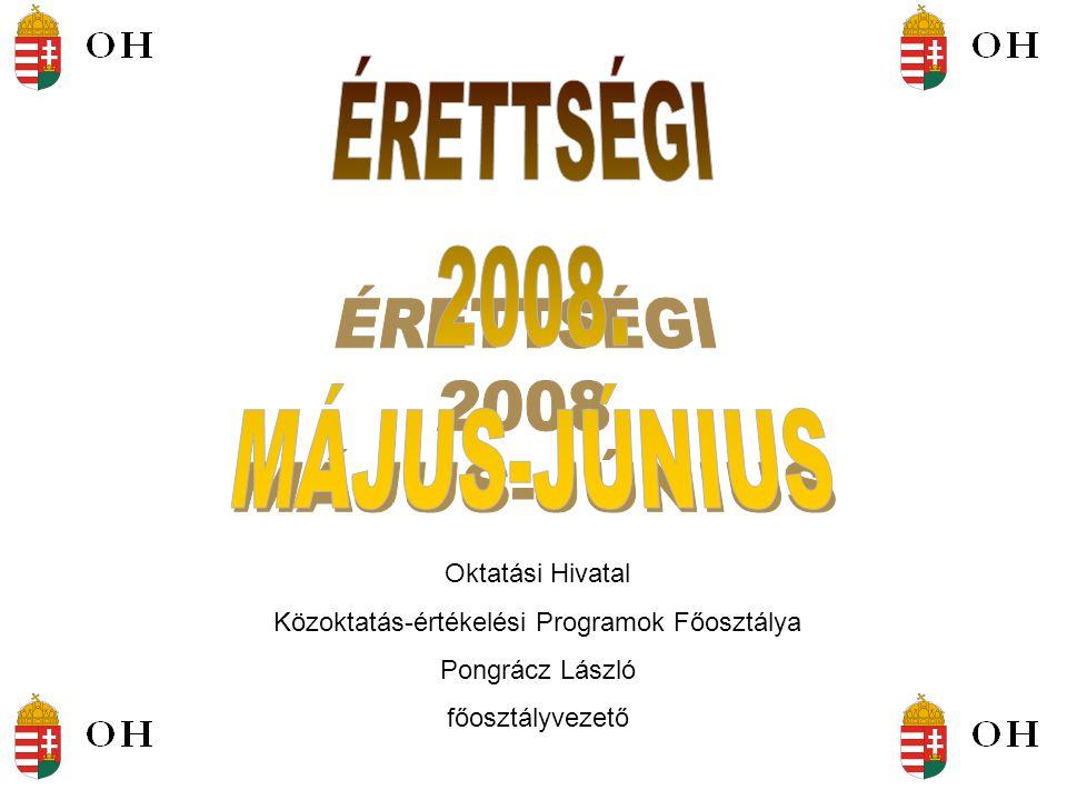 Oktatási Hivatal Közoktatás-értékelési Programok Főosztálya Pongrácz László főosztályvezető