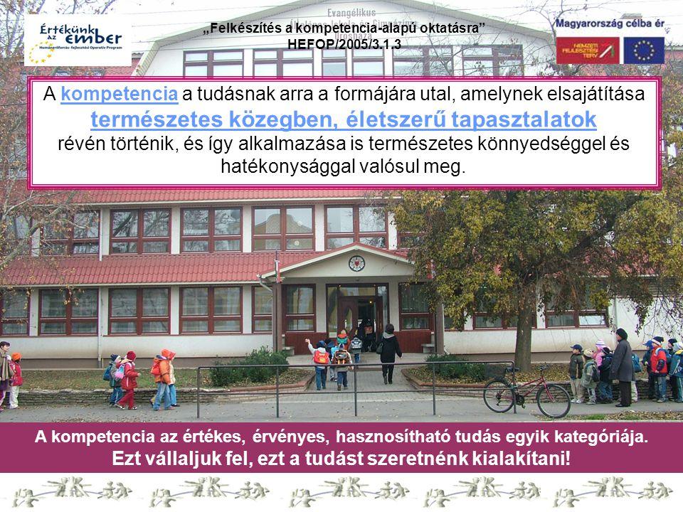 """""""Felkészítés a kompetencia-alapú oktatásra HEFOP/2005/3.1.3 Köszönjük figyelmüket!"""