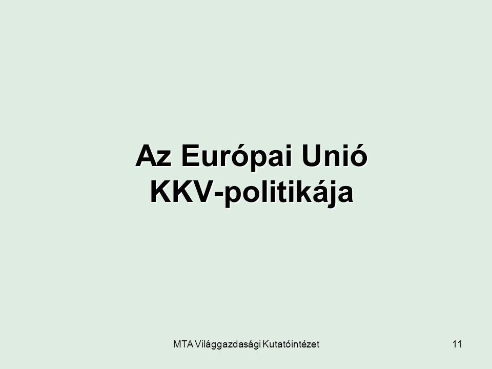 MTA Világgazdasági Kutatóintézet11 Az Európai Unió KKV-politikája