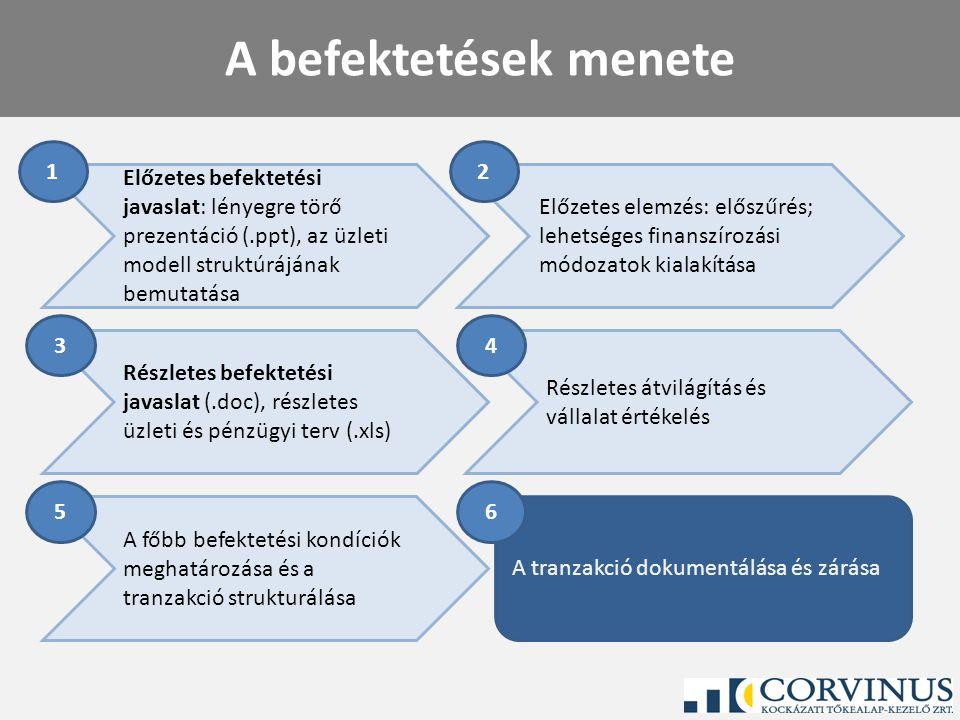 A tranzakció dokumentálása és zárása Részletes átvilágítás és vállalat értékelés Részletes befektetési javaslat (.doc), részletes üzleti és pénzügyi t
