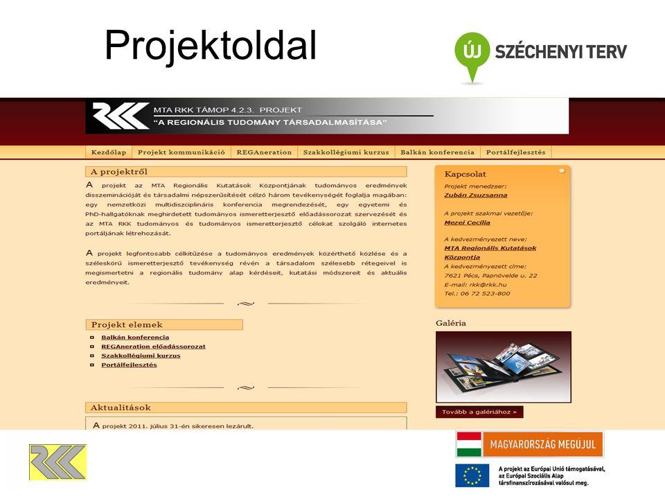 Projektoldal