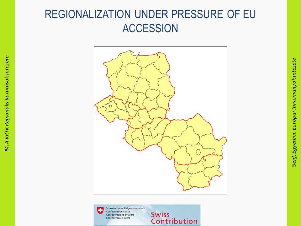 MTA KRTK Regionális Kutatások Intézete Genfi Egyetem, Európai Tanulmányok Intézete REGIONALIZATION UNDER PRESSURE OF EU ACCESSION