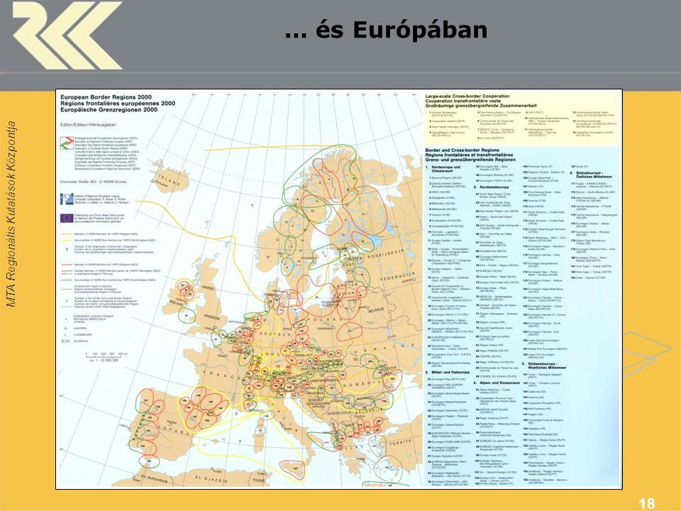 MTA Regionális Kutatások Központja 18 … és Európában