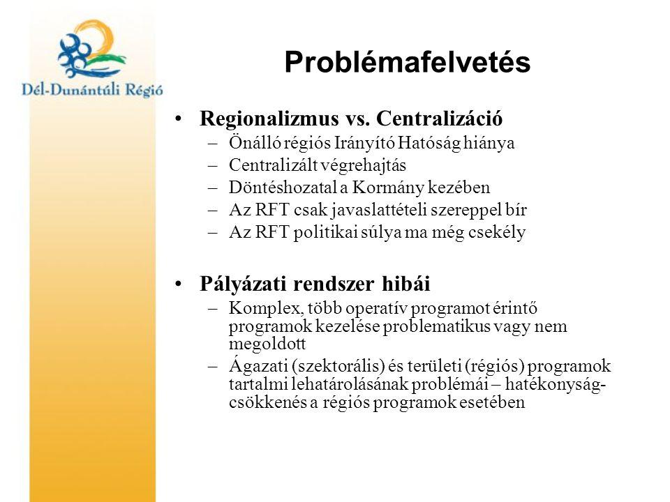 Problémafelvetés Regionalizmus vs.