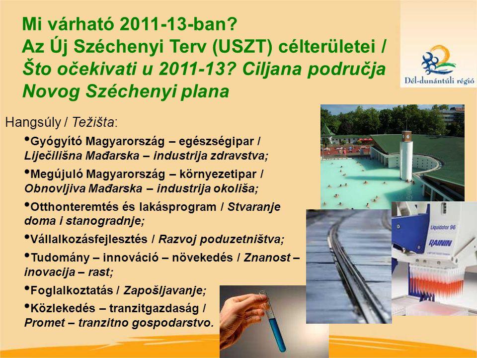 Mi várható 2011-13-ban. Az Új Széchenyi Terv (USZT) célterületei / Što očekivati u 2011-13.
