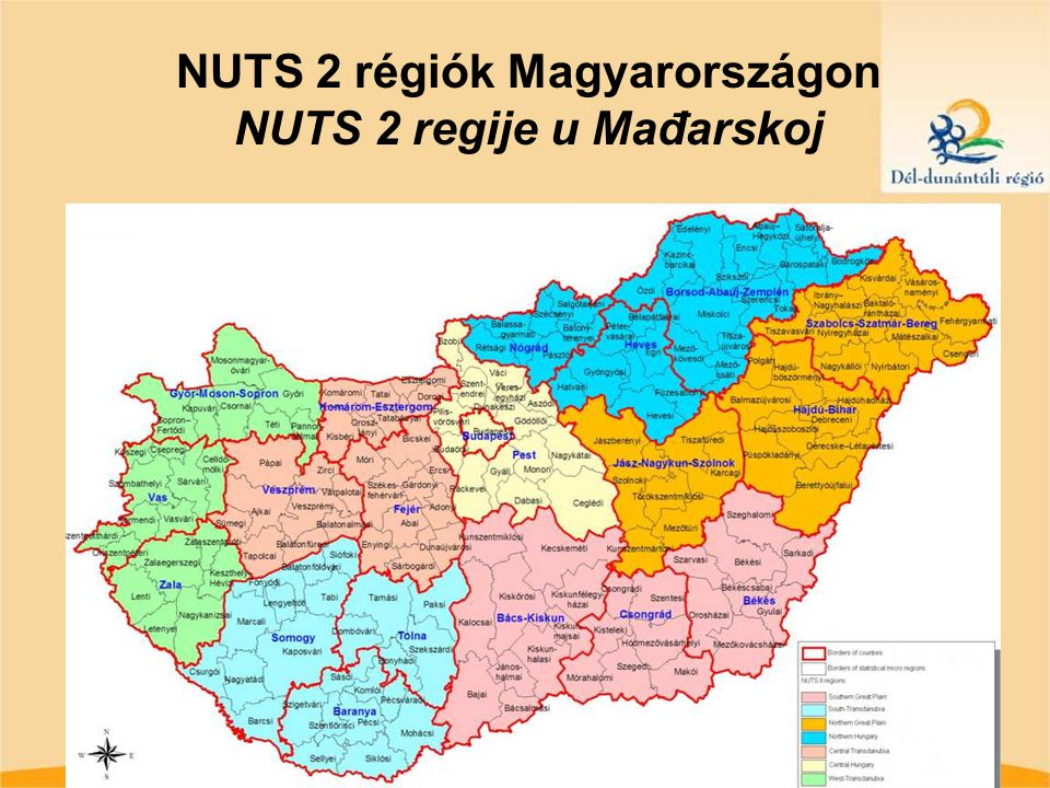 NUTS 2 régiók Magyarországon NUTS 2 regije u Mađarskoj