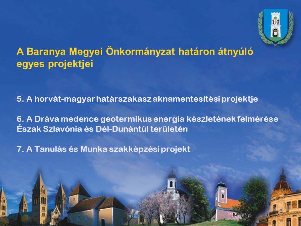 A Baranya Megyei Önkormányzat határon átnyúló egyes projektjei 8.