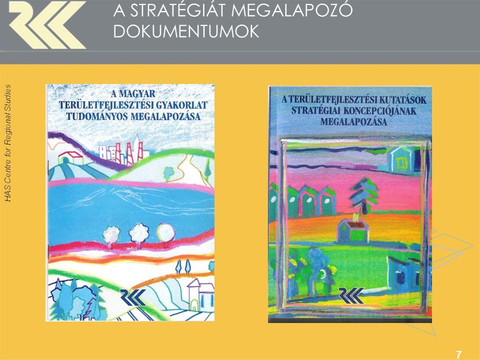 HAS Centre for Regional Studies 7 A STRATÉGIÁT MEGALAPOZÓ DOKUMENTUMOK