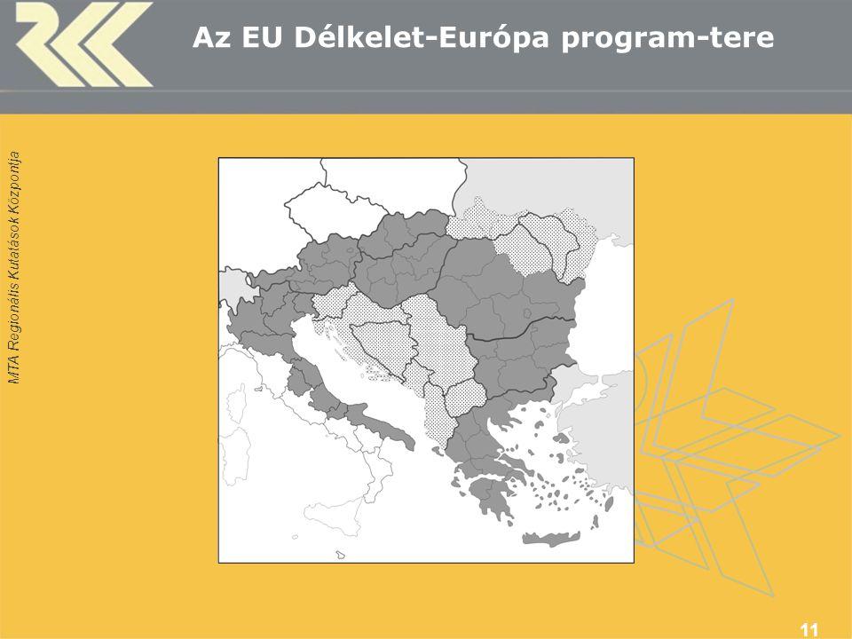 MTA Regionális Kutatások Központja 11 Az EU Délkelet-Európa program-tere