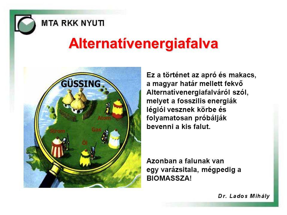 Alternatívenergiafalva Ez a történet az apró és makacs, a magyar határ mellett fekvő Alternatívenergiafalváról szól, melyet a fosszilis energiák légiói vesznek körbe és folyamatosan próbálják bevenni a kis falut.
