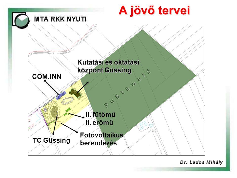A jövő tervei Kutatási és oktatási központ Güssing TC Güssing COM.INN Fotovoltaikus berendezés II.