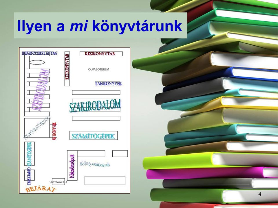 4 Ilyen a mi könyvtárunk