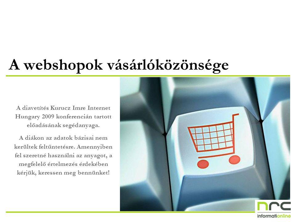 A webshopok vásárlóközönsége A diavetítés Kurucz Imre Internet Hungary 2009 konferencián tartott előadásának segédanyaga.