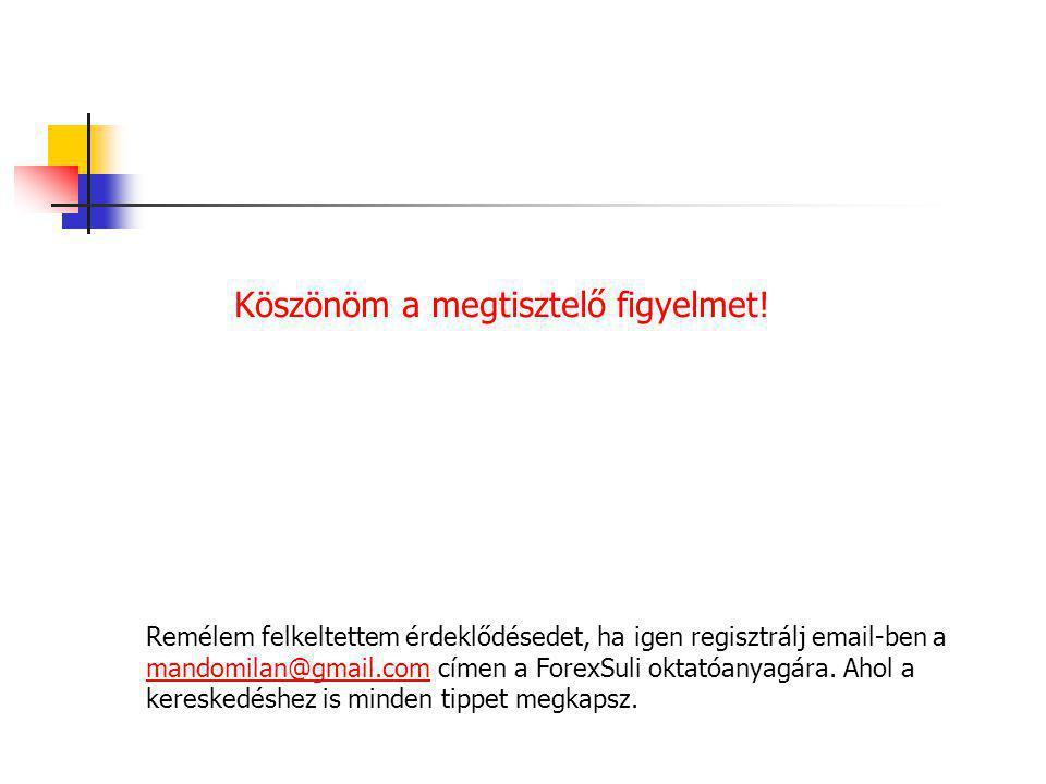 Köszönöm a megtisztelő figyelmet! Remélem felkeltettem érdeklődésedet, ha igen regisztrálj email-ben a mandomilan@gmail.com címen a ForexSuli oktatóan