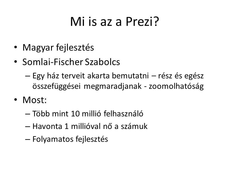Mi is az a Prezi? Magyar fejlesztés Somlai-Fischer Szabolcs – Egy ház terveit akarta bemutatni – rész és egész összefüggései megmaradjanak - zoomolhat