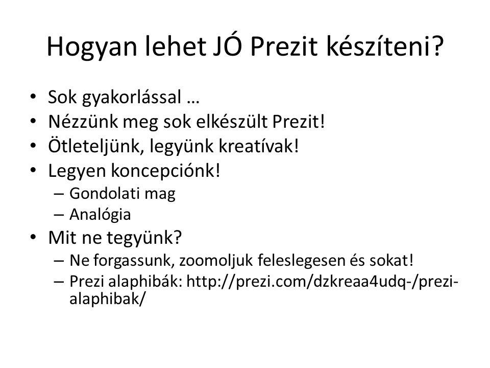 Hogyan lehet JÓ Prezit készíteni. Sok gyakorlással … Nézzünk meg sok elkészült Prezit.