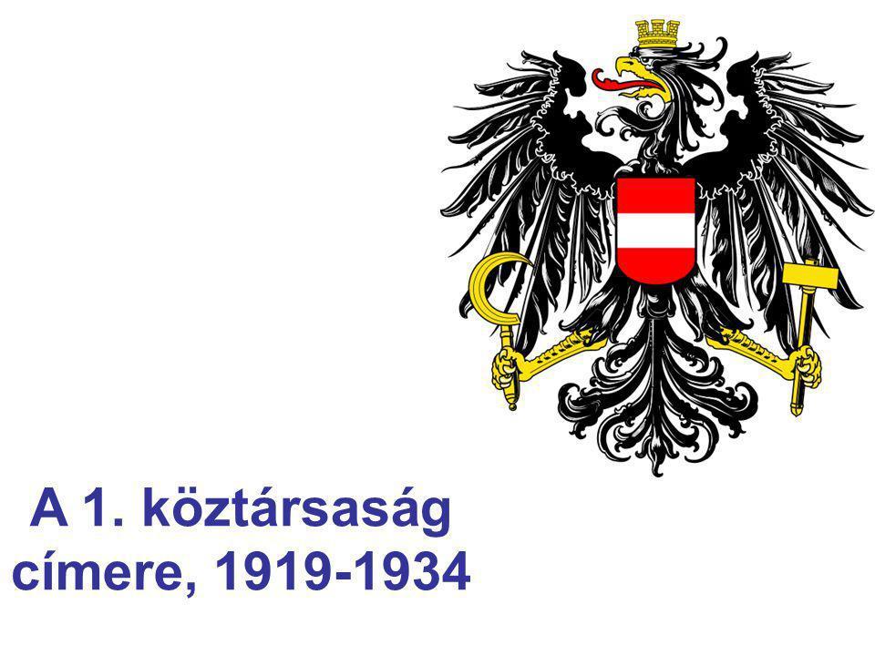 A 1. köztársaság címere, 1919-1934