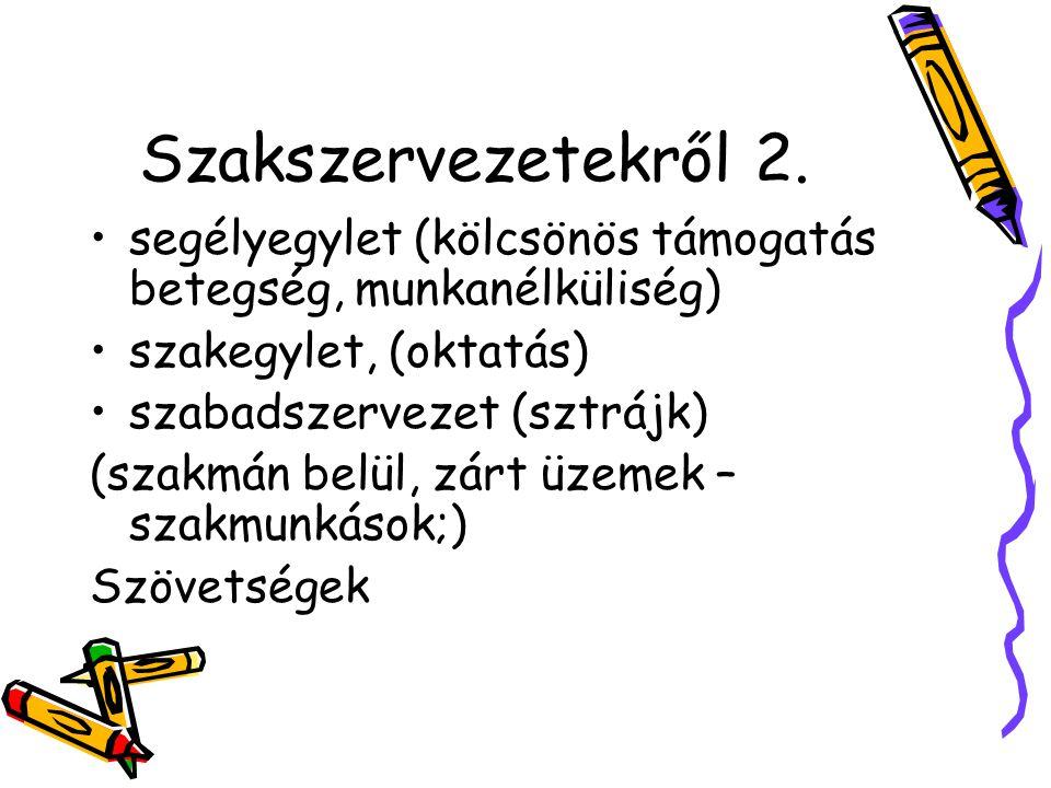 Szakszervezetekről 2.