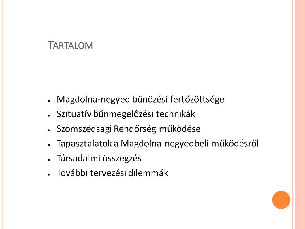S ZITUATÍV BŰNMEGELŐZÉSI TECHNIKÁK ● a komplex fizikai környezet bűnkeltő, vagy elkövetést megkönnyítő hatásának az alakítása, a bűnelkövetést elősegítő alkalmak csökkentését célzó törekvések összessége ● Zéró-tolerancia: törött ablakok modellje (Banfield) ● Térfigyelő kamerák alkalmazása: panoptikusság ● Városrehabilitáció és bűnözés (Erdősi): displacement ● Szomszédok Egymásért Mozgalom
