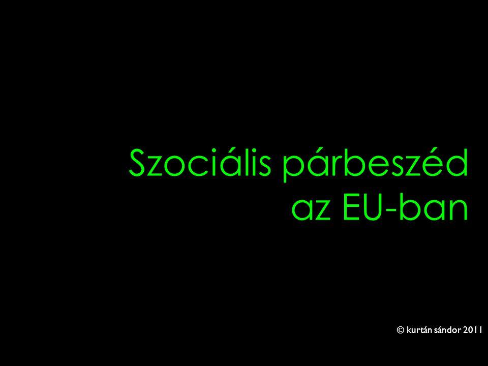 1 Szociális párbeszéd az EU-ban © kurtán sándor 2011