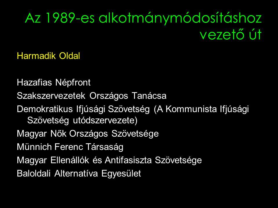 Az 1989-es alkotmánymódosításhoz vezető út Sarkalatos törvények 1.