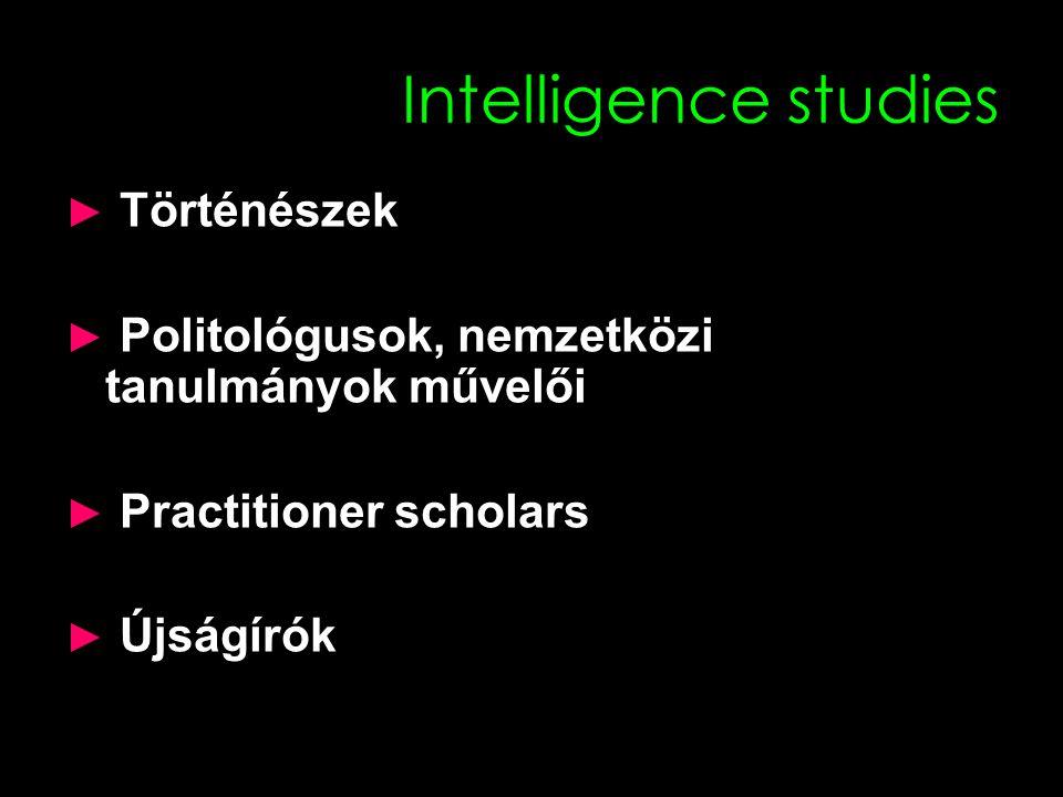 Intelligence studies ► Történészek ► Politológusok, nemzetközi tanulmányok művelői ► Practitioner scholars ► Újságírók