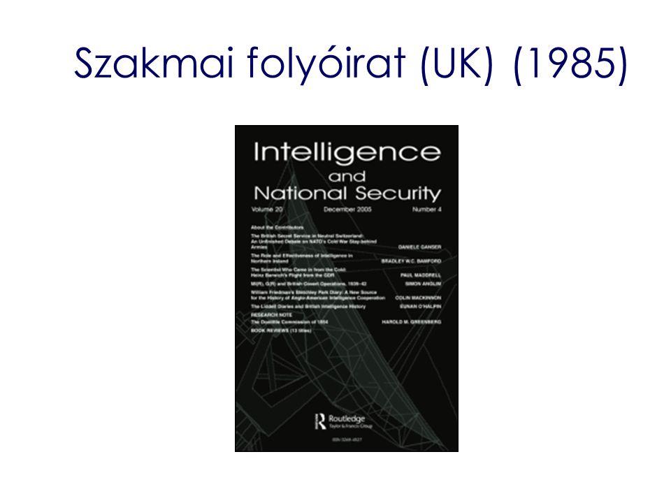 Szakmai folyóirat (UK) (1985)