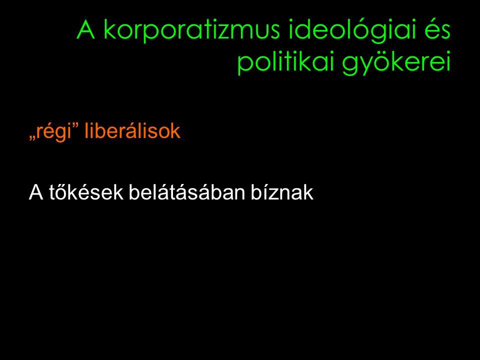 """13 A korporatizmus ideológiai és politikai gyökerei """"régi liberálisok A tőkések belátásában bíznak"""