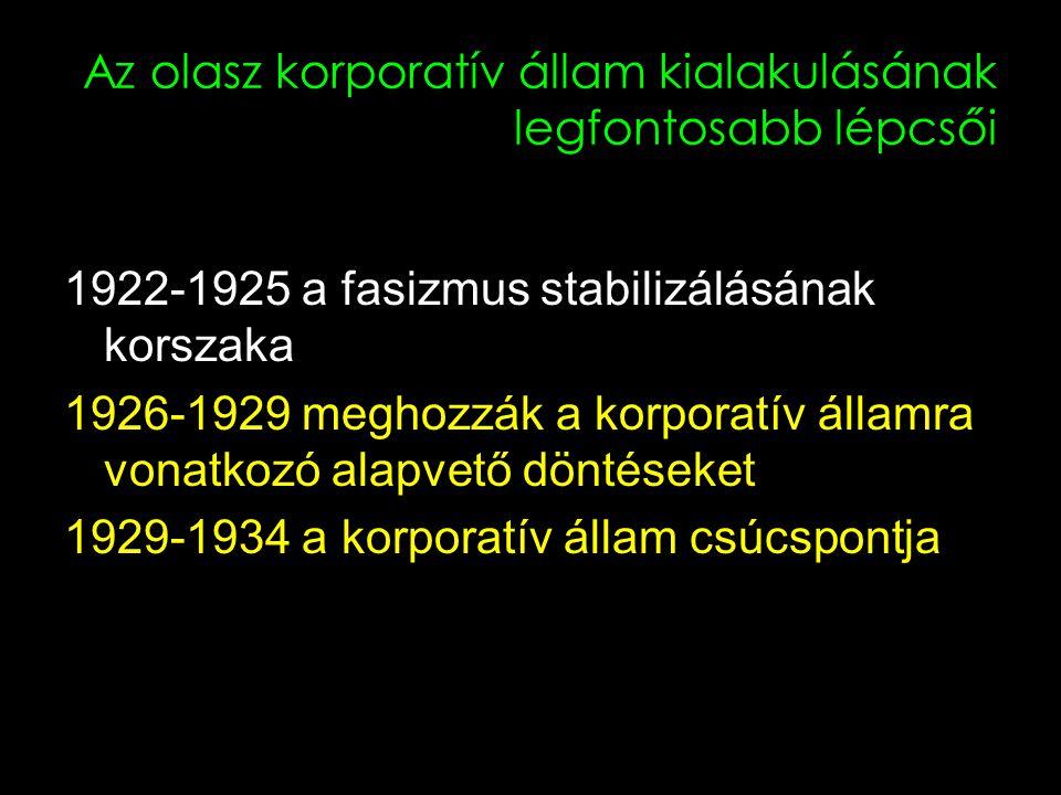 4 A fasiszta korporációknak magukban kell foglalniuk a munkavállalók és a munkaadók mindennemű tevékenységét.