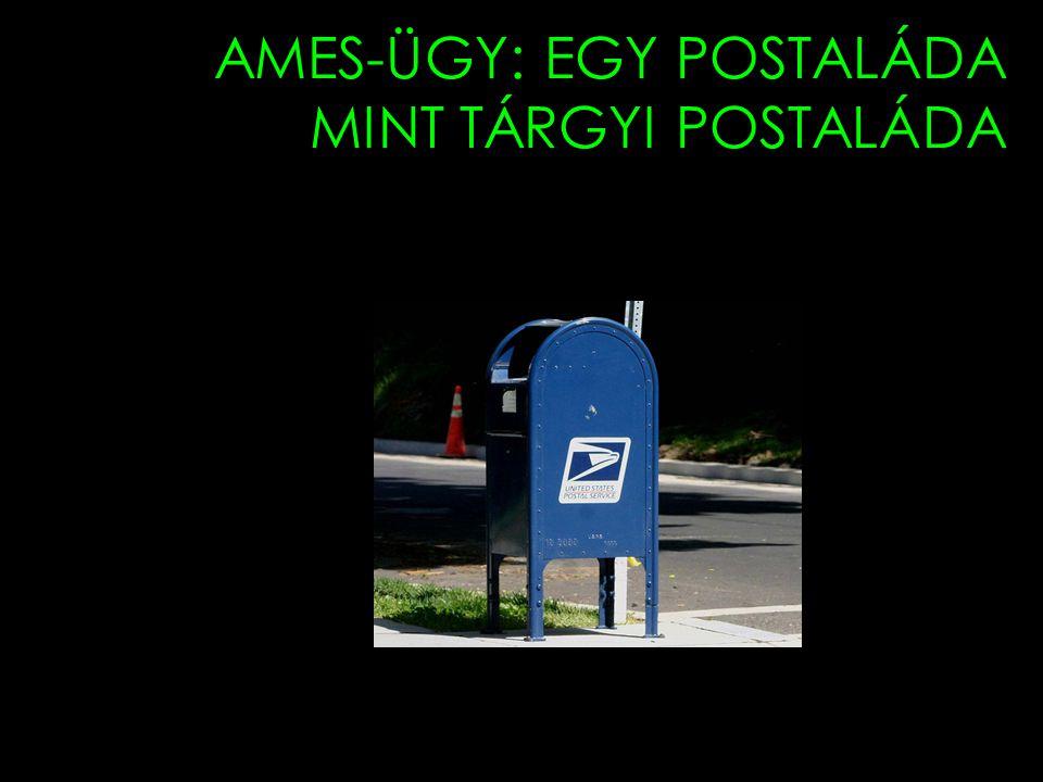 AMES-ÜGY: EGY POSTALÁDA MINT TÁRGYI POSTALÁDA 37th and R Sts. NW.