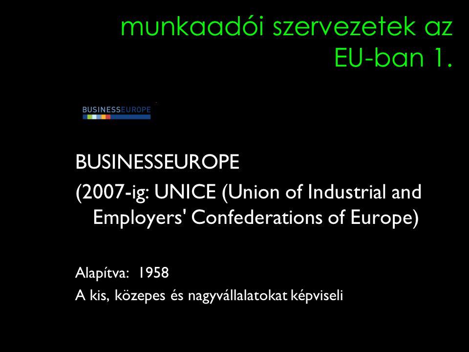 2 munkaadói szervezetek az EU-ban 1.