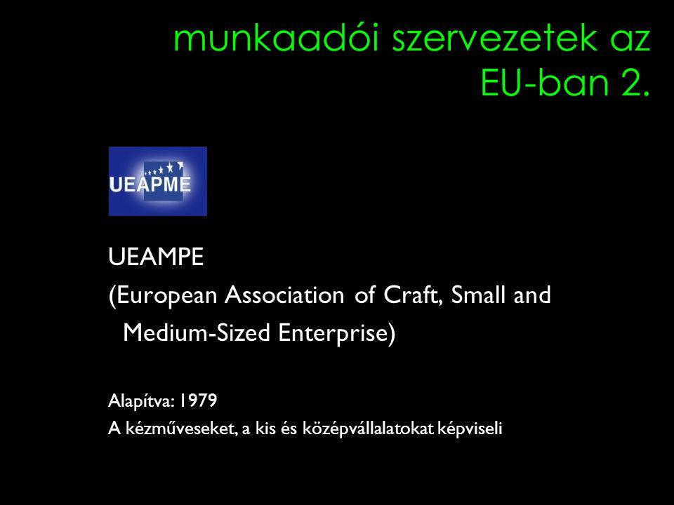 3 munkaadói szervezetek az EU-ban 2.