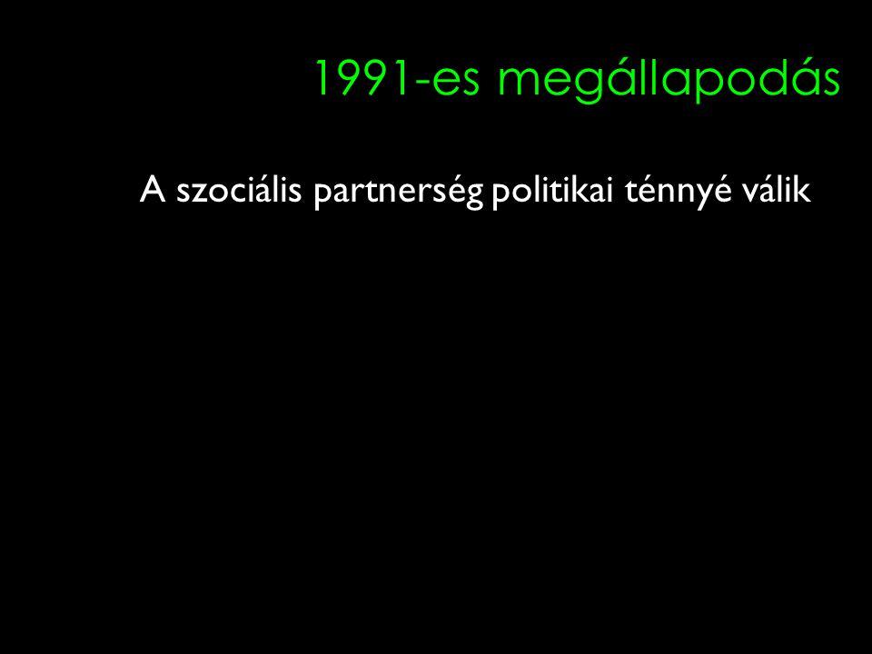 13 1991-es megállapodás A szociális partnerség politikai ténnyé válik