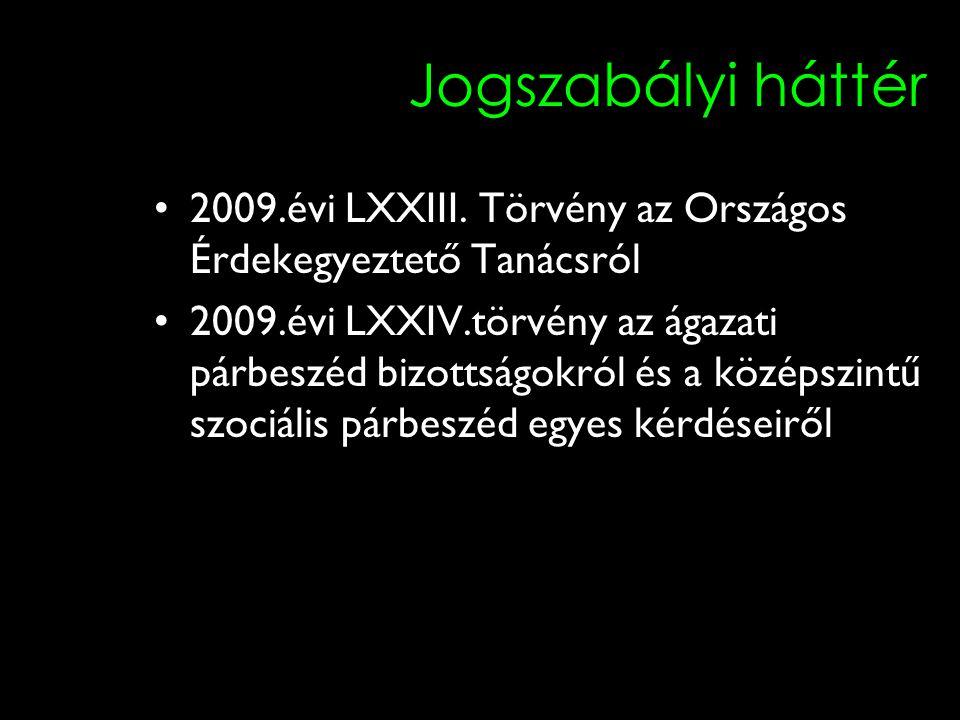 6 Jogszabályi háttér 2009.évi LXXIII.