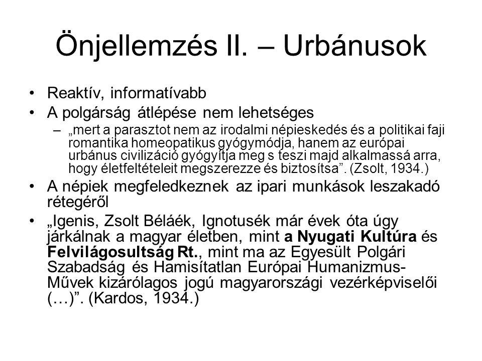 Önjellemzés II.