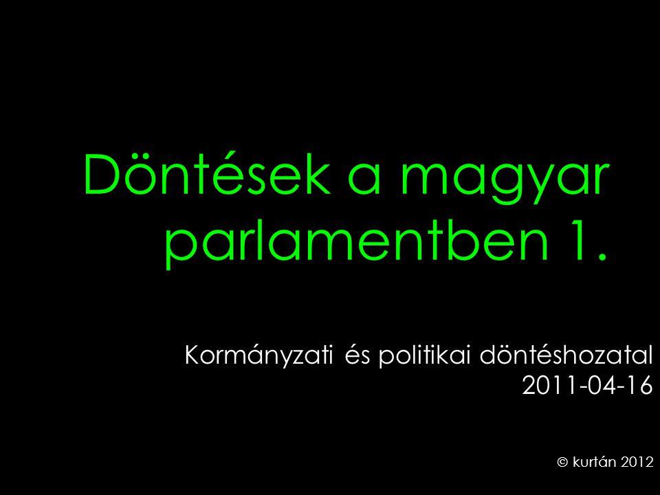 Döntések a magyar parlamentben 1. Kormányzati és politikai döntéshozatal 2011-04-16  kurtán 2012