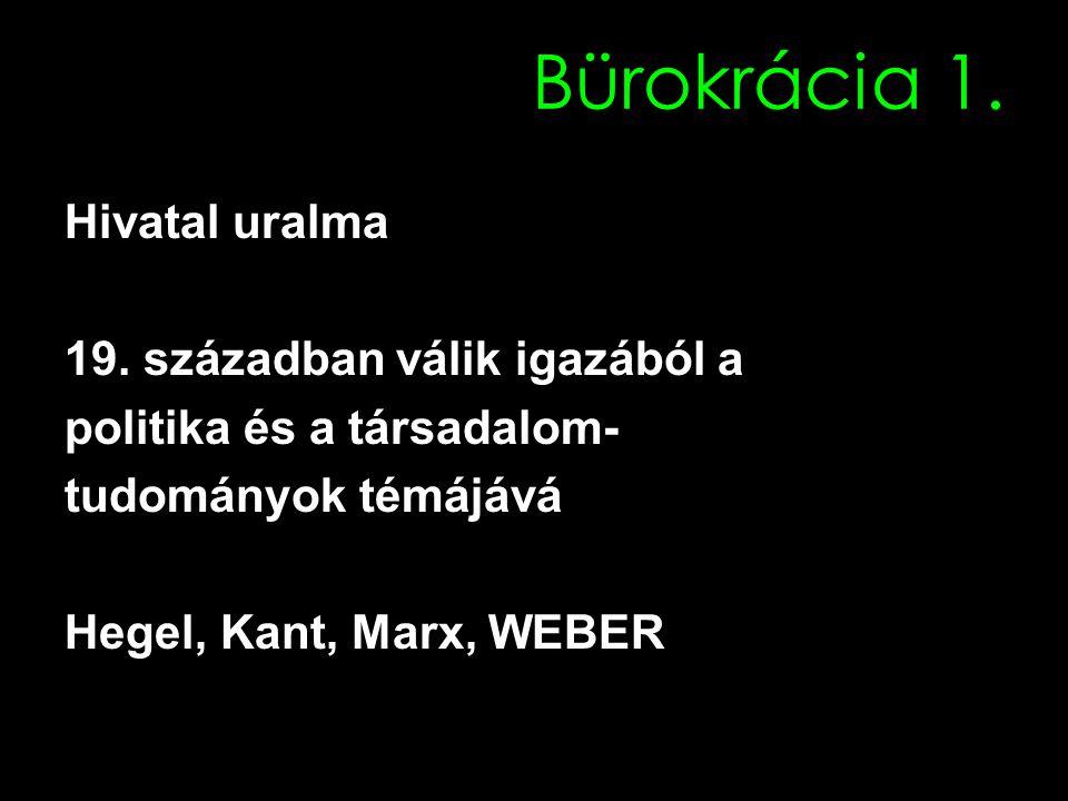 Bürokrácia 1. Hivatal uralma 19.