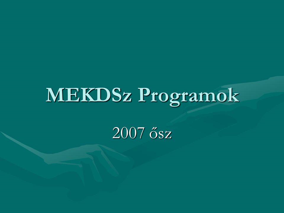 MEKDSz Programok 2007 ősz