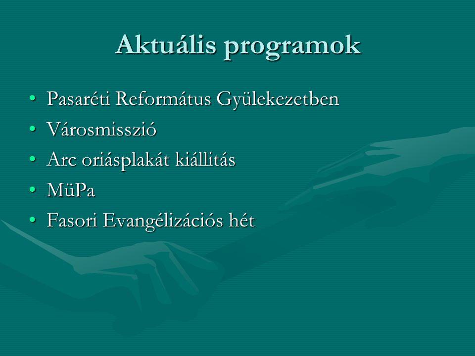 Aktuális programok Pasaréti Református GyülekezetbenPasaréti Református Gyülekezetben VárosmisszióVárosmisszió Arc oriásplakát kiállitásArc oriásplaká