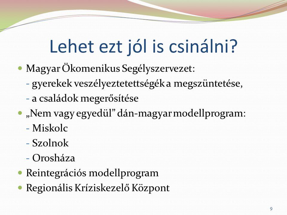 """Lehet ezt jól is csinálni? Magyar Ökomenikus Segélyszervezet: - gyerekek veszélyeztetettségék a megszüntetése, - a családok megerősítése """"Nem vagy egy"""