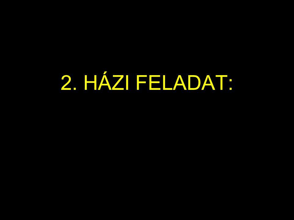 2. HÁZI FELADAT: