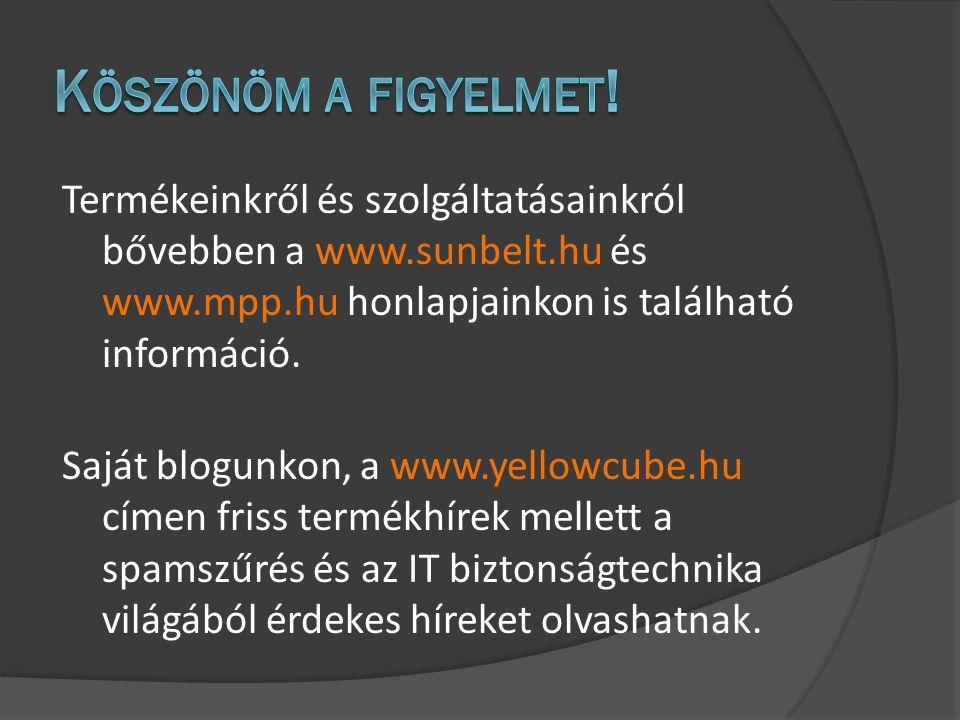 Termékeinkről és szolgáltatásainkról bővebben a www.sunbelt.hu és www.mpp.hu honlapjainkon is található információ.