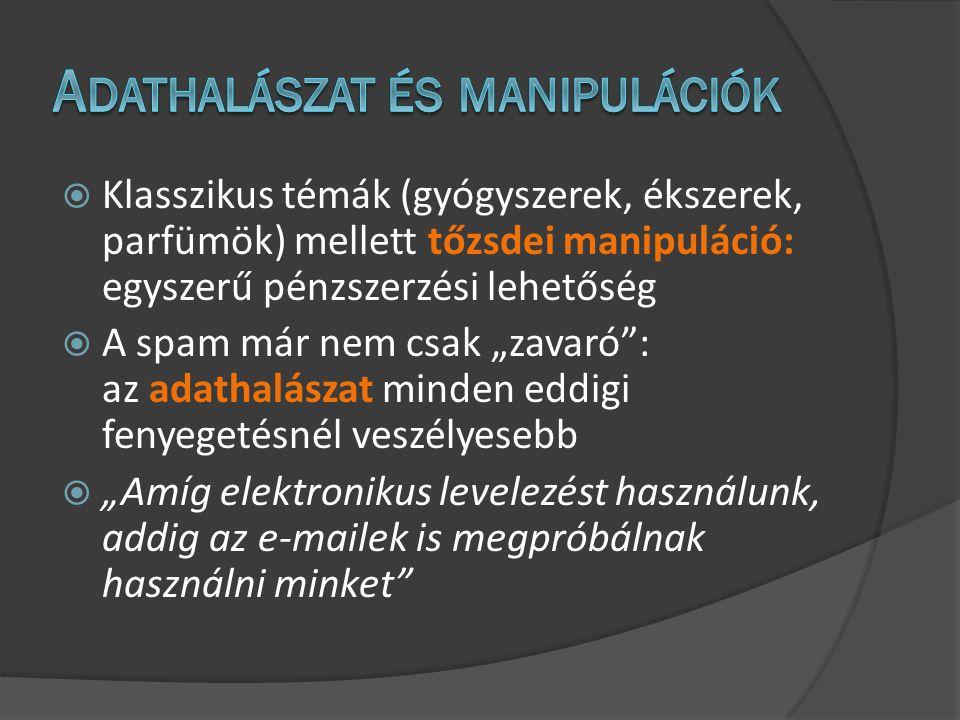 Teszt: 2 hétnél nem régebbi, 2200 db, több fajta (képes) spamből és 250 db különböző magyar és angol nyelvű levélből álló minta Cloudmark:91.02% felismerési arány MailShell:84.93% felismerési arány SpamAssassin:65.14% felismerési arány MPP Desktop:99.34% felismerési arány