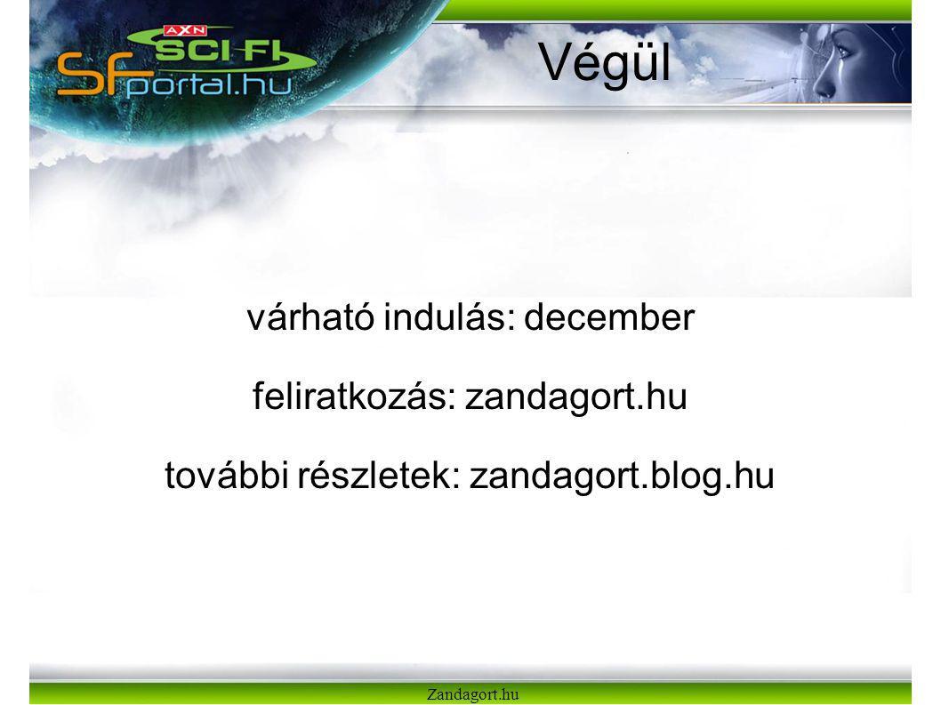 Zandagort.hu Végül várható indulás: december feliratkozás: zandagort.hu további részletek: zandagort.blog.hu