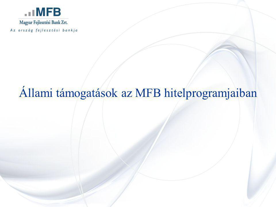 Állami támogatások az MFB hitelprogramjaiban