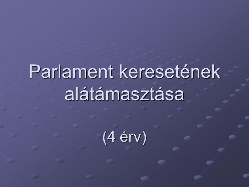 Parlament keresetének alátámasztása (4 érv)