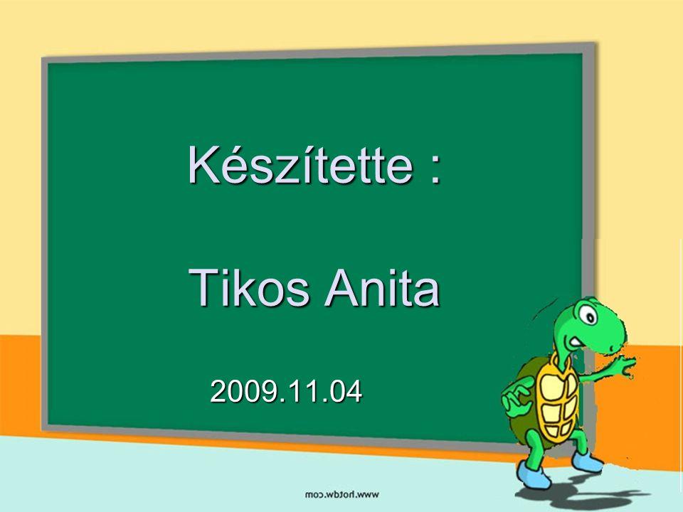 Készítette : Tikos Anita 2009.11.04