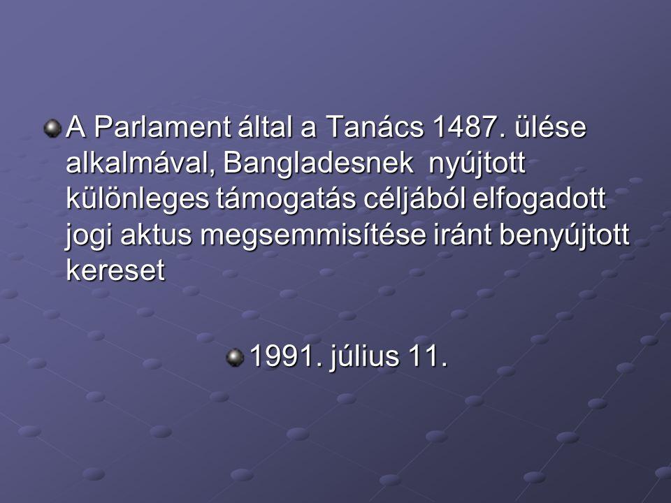 A Parlament által a Tanács 1487.