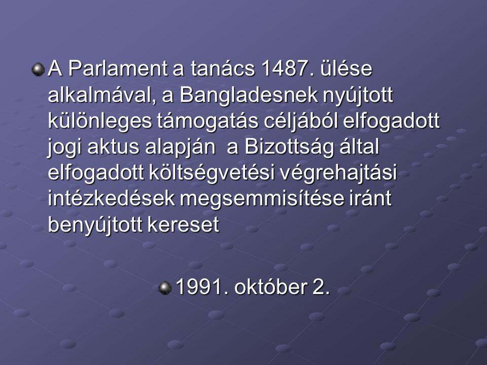 A Parlament a tanács 1487.